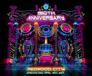 3D Light Show redwood city improvement association celebrates redwood city's