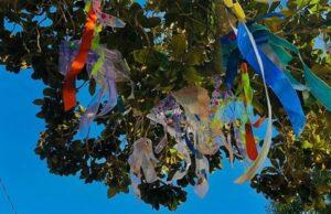 """""""Fish in the Tree,"""" at 259 Matadero Ave., is part of Palo Alto's ArtLift microgrant program. Courtesy city of Palo Alto."""